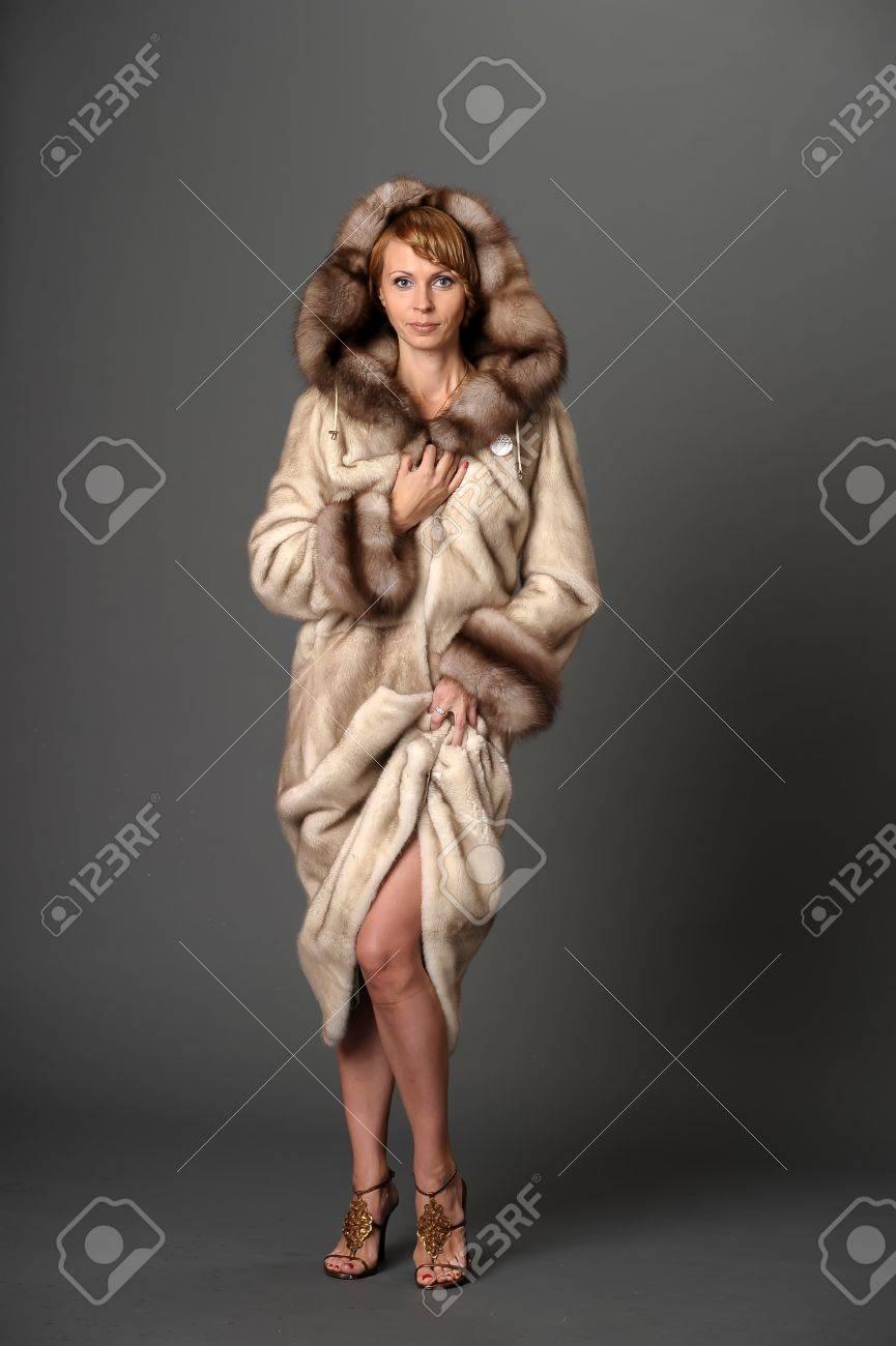 girl in a mink coat Stock Photo - 10326604