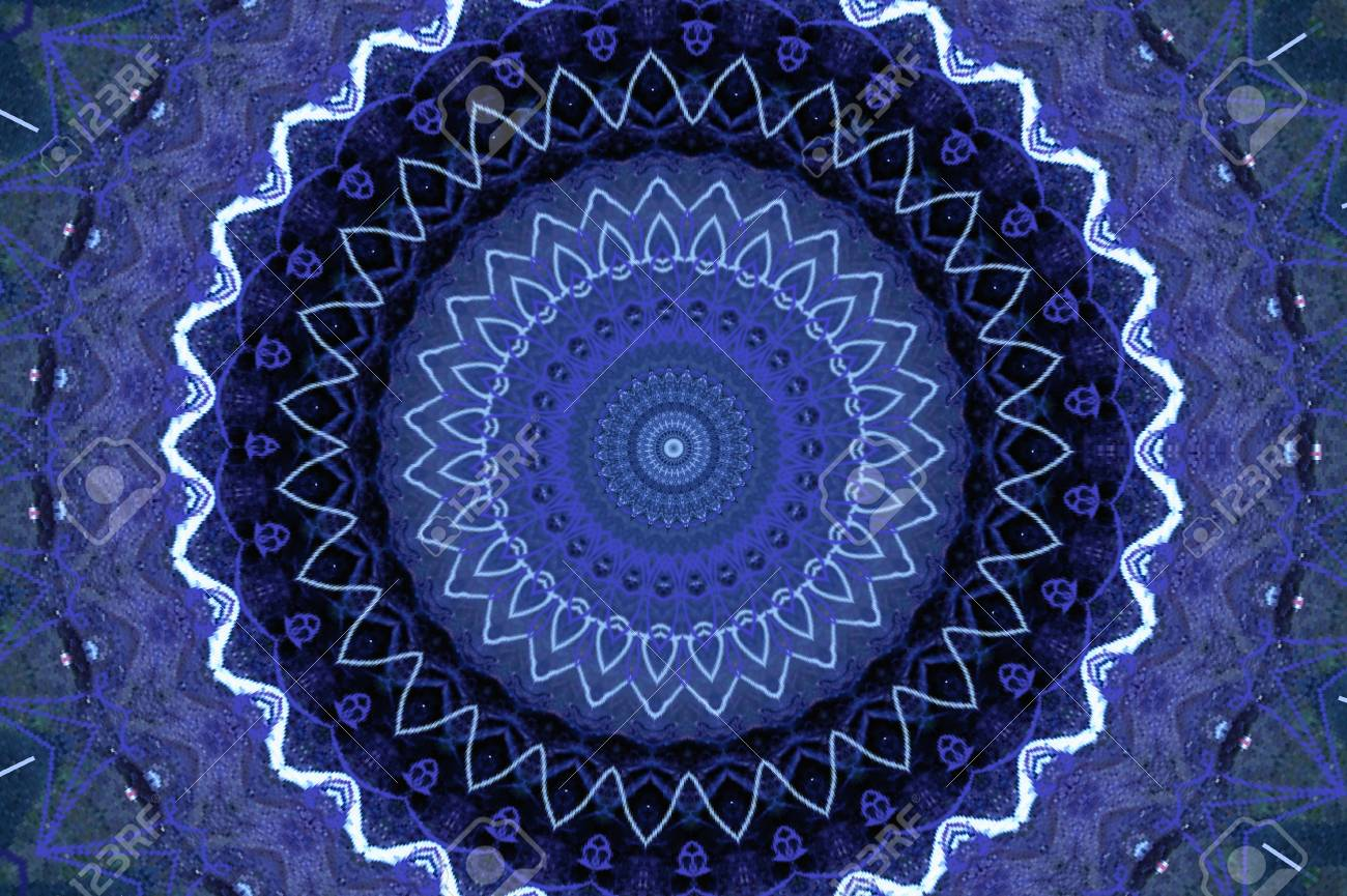 blue circular pattern Stock Photo - 9713977