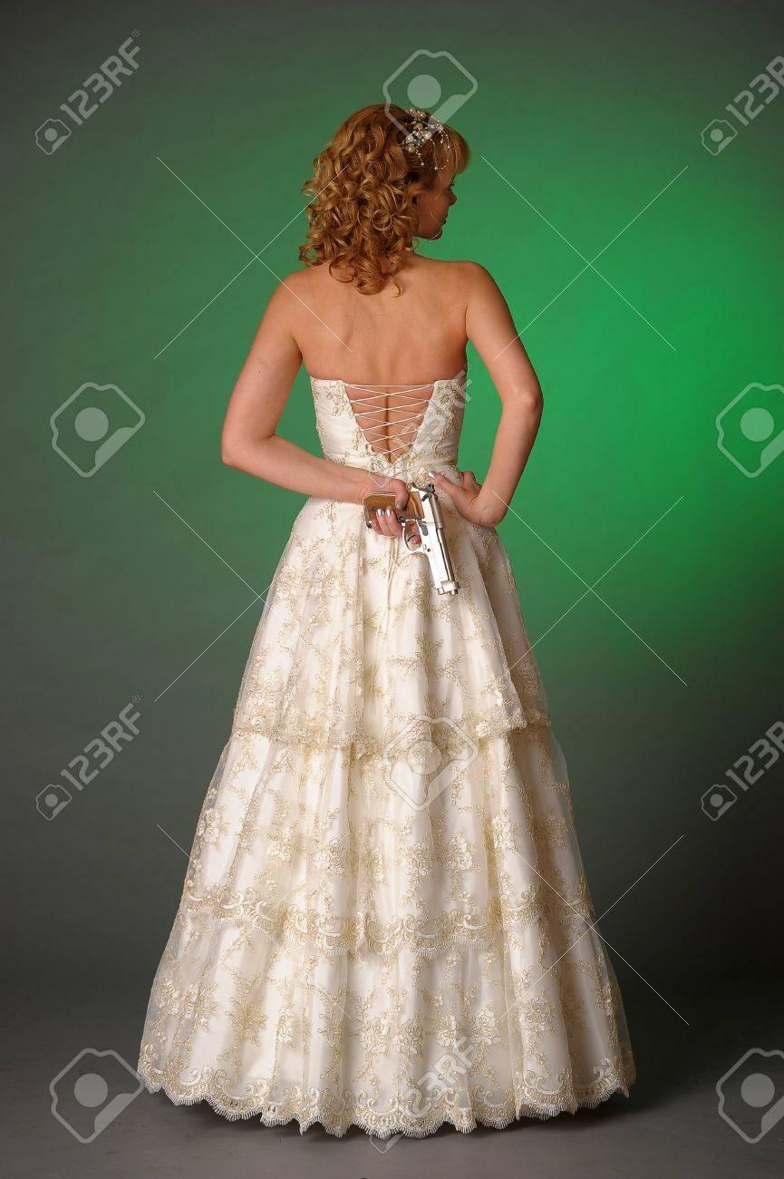 bride with a gun Stock Photo - 10323612