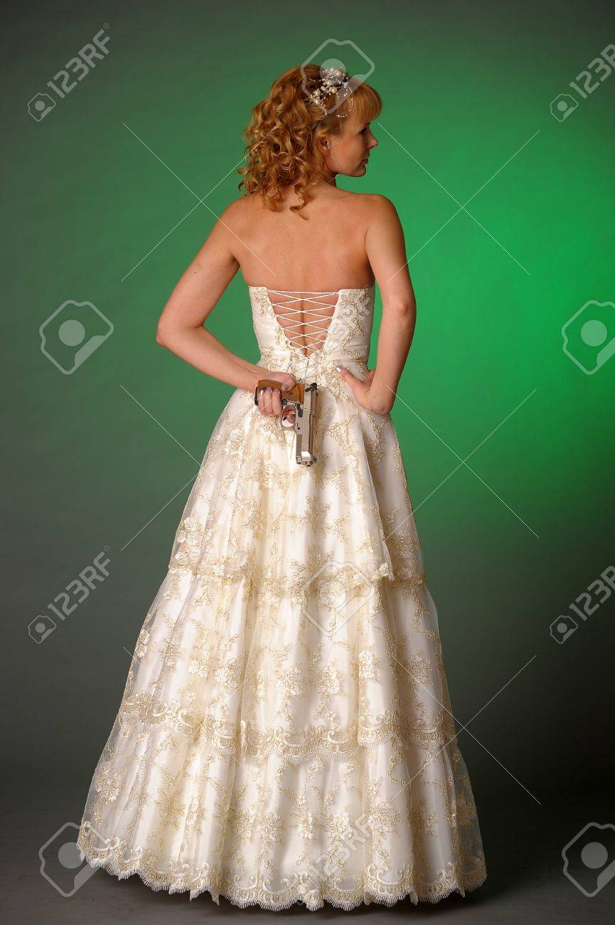 bride with a gun Stock Photo - 10323613