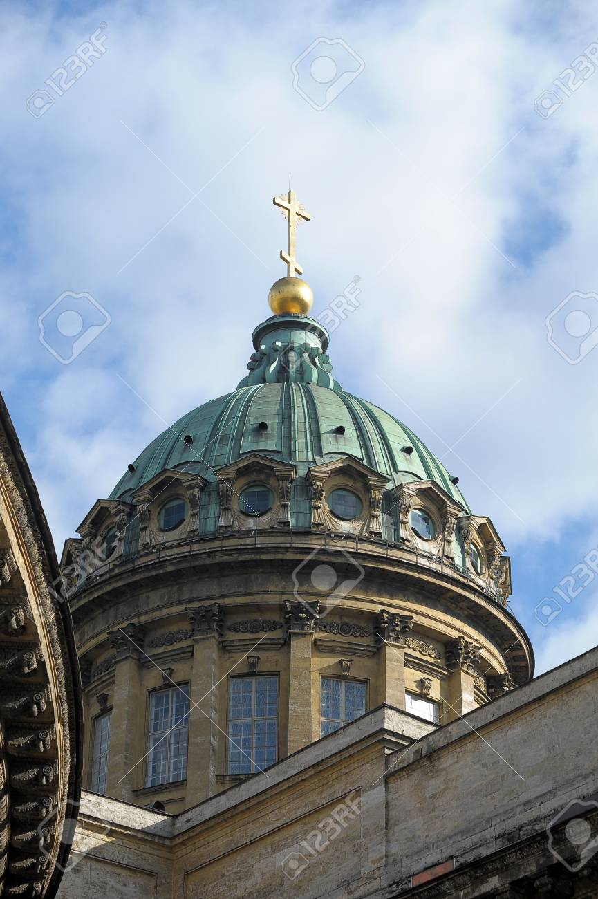 Dome of the Kazan Cathedral Stock Photo - 10529971