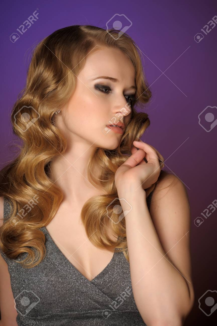 a beautiful young blonde in retro style photo Stock Photo - 11476475