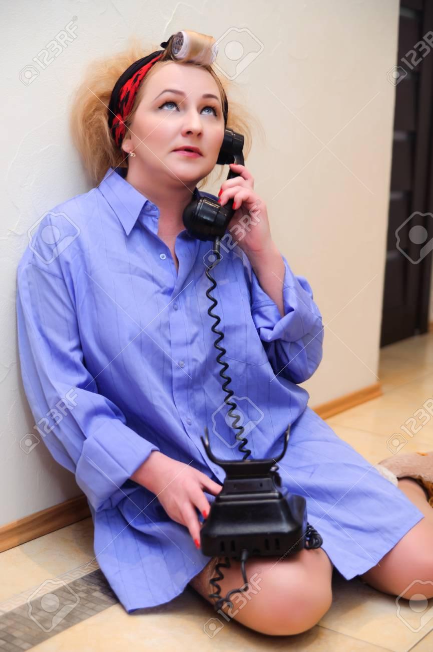 Vintage woman on telephone Stock Photo - 11935455