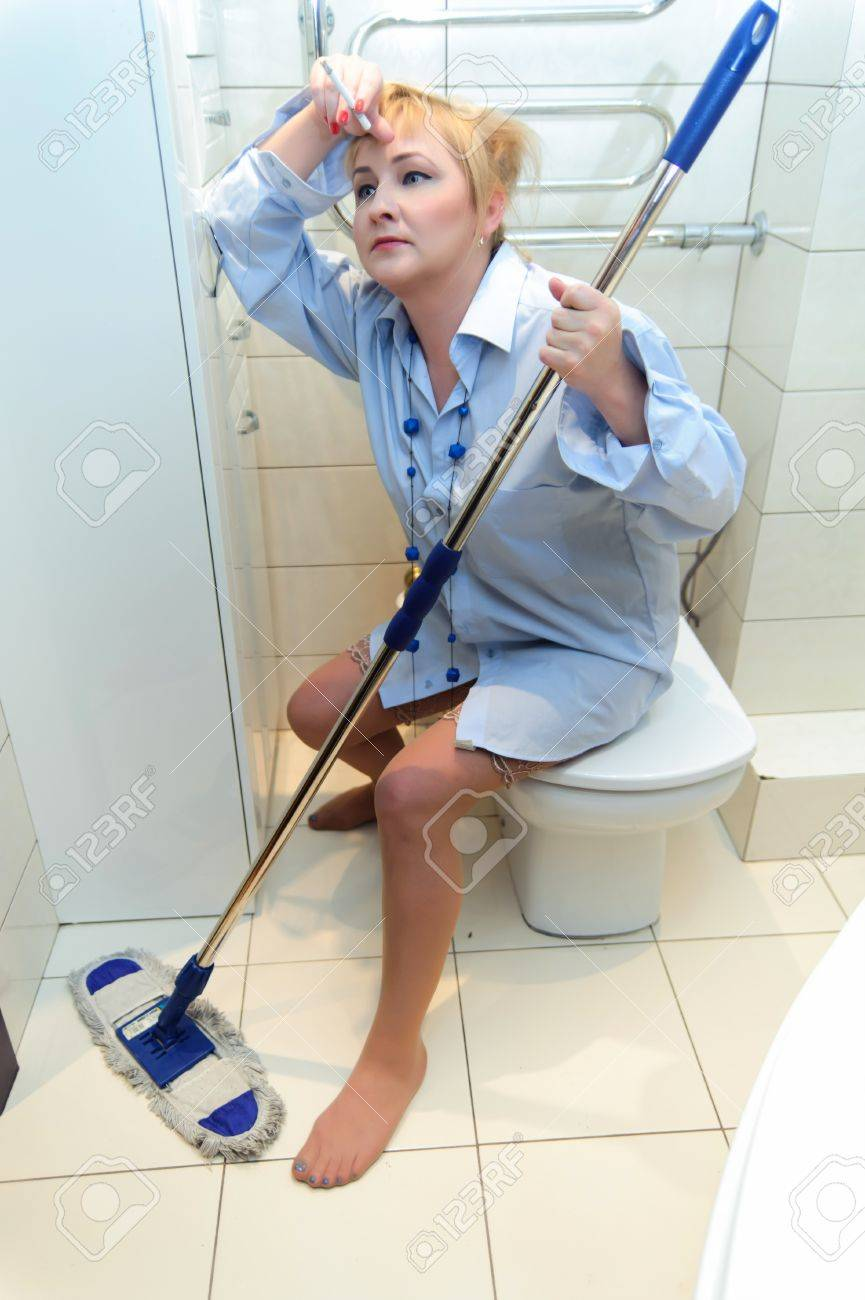 Cleaning Lady - Worn Out Stock Photo - 12235027
