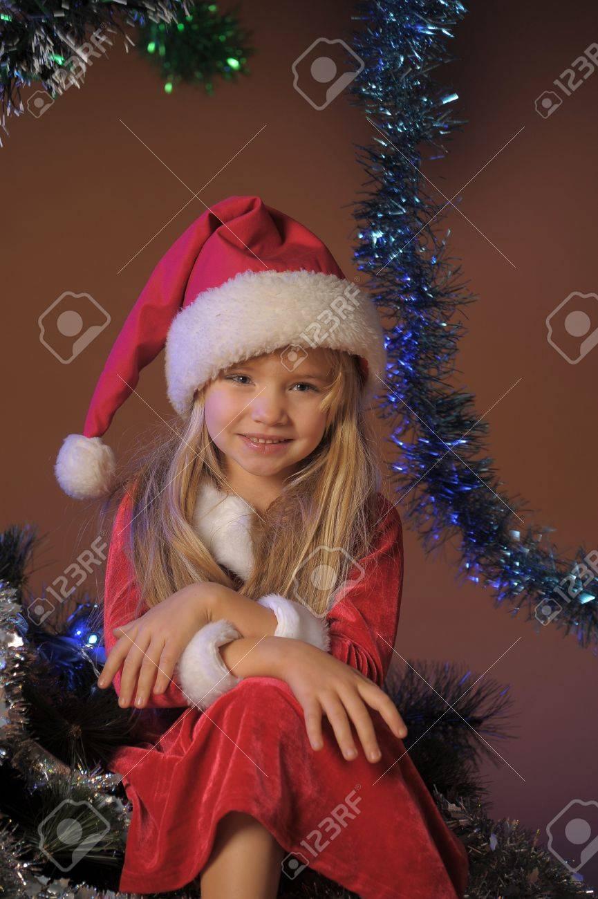 Little santa girl Stock Photo - 13253112