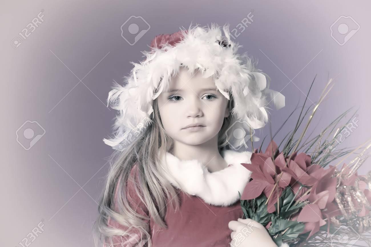 Little santa girl Stock Photo - 13253136
