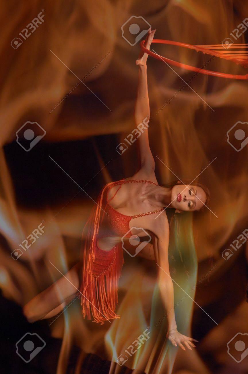 Hot woman dancer Stock Photo - 12234072