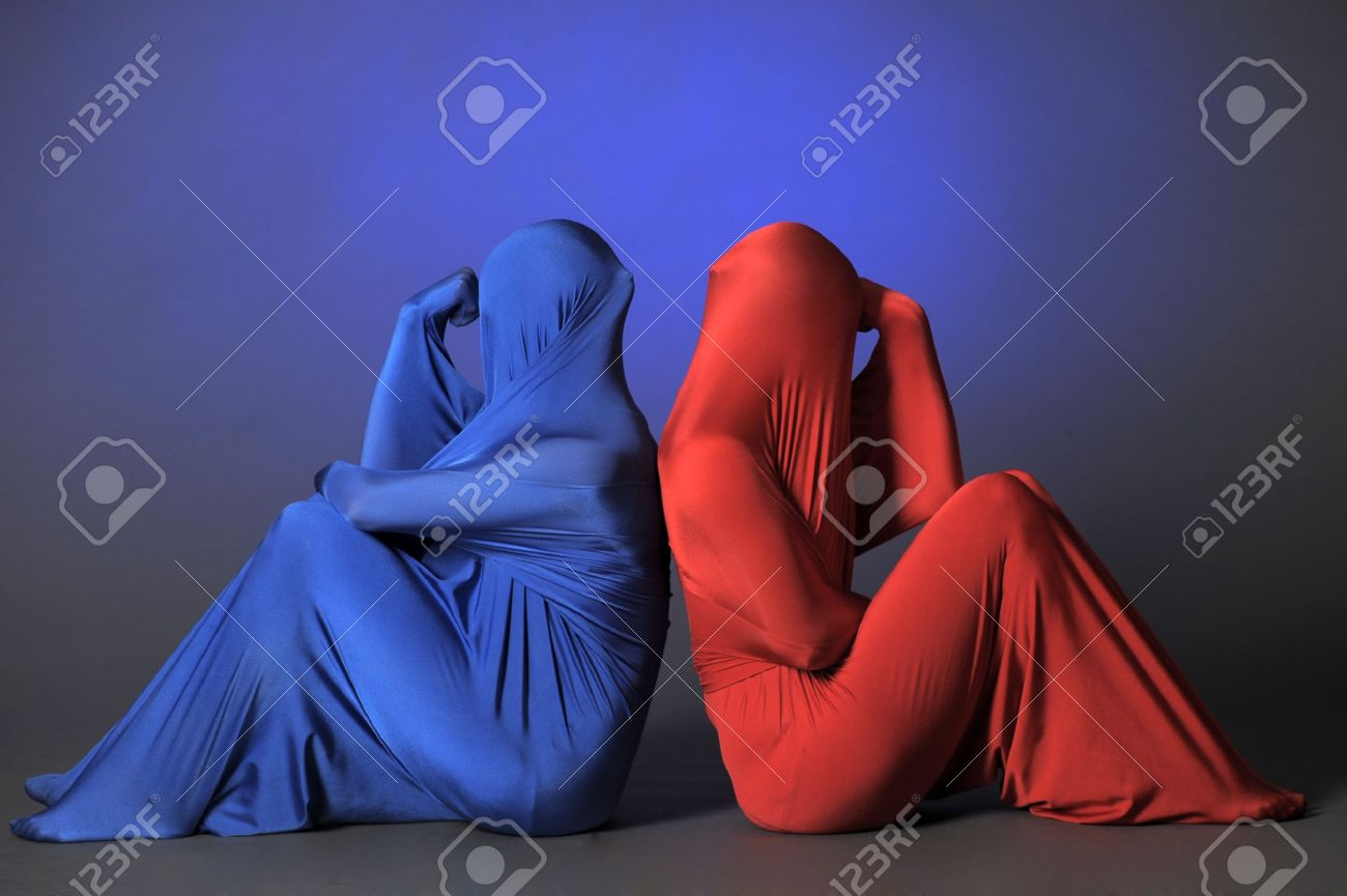 two abstract  figures Stock Photo - 12434303
