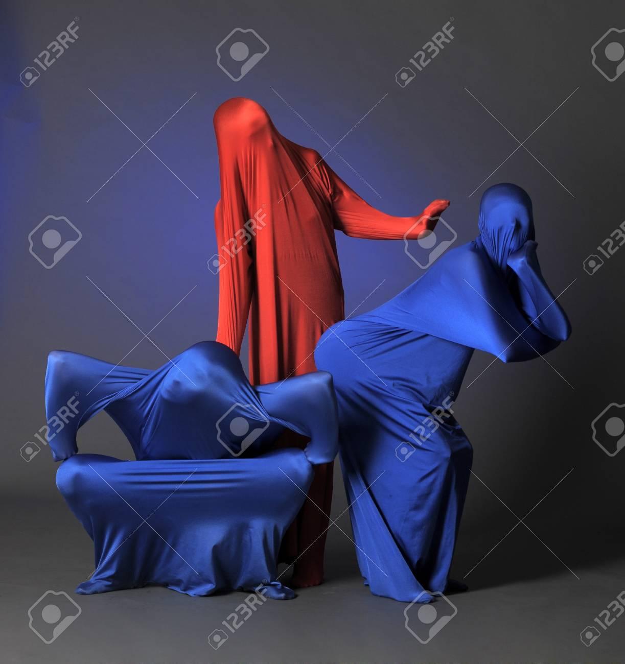 three abstract human figures Stock Photo - 13342824