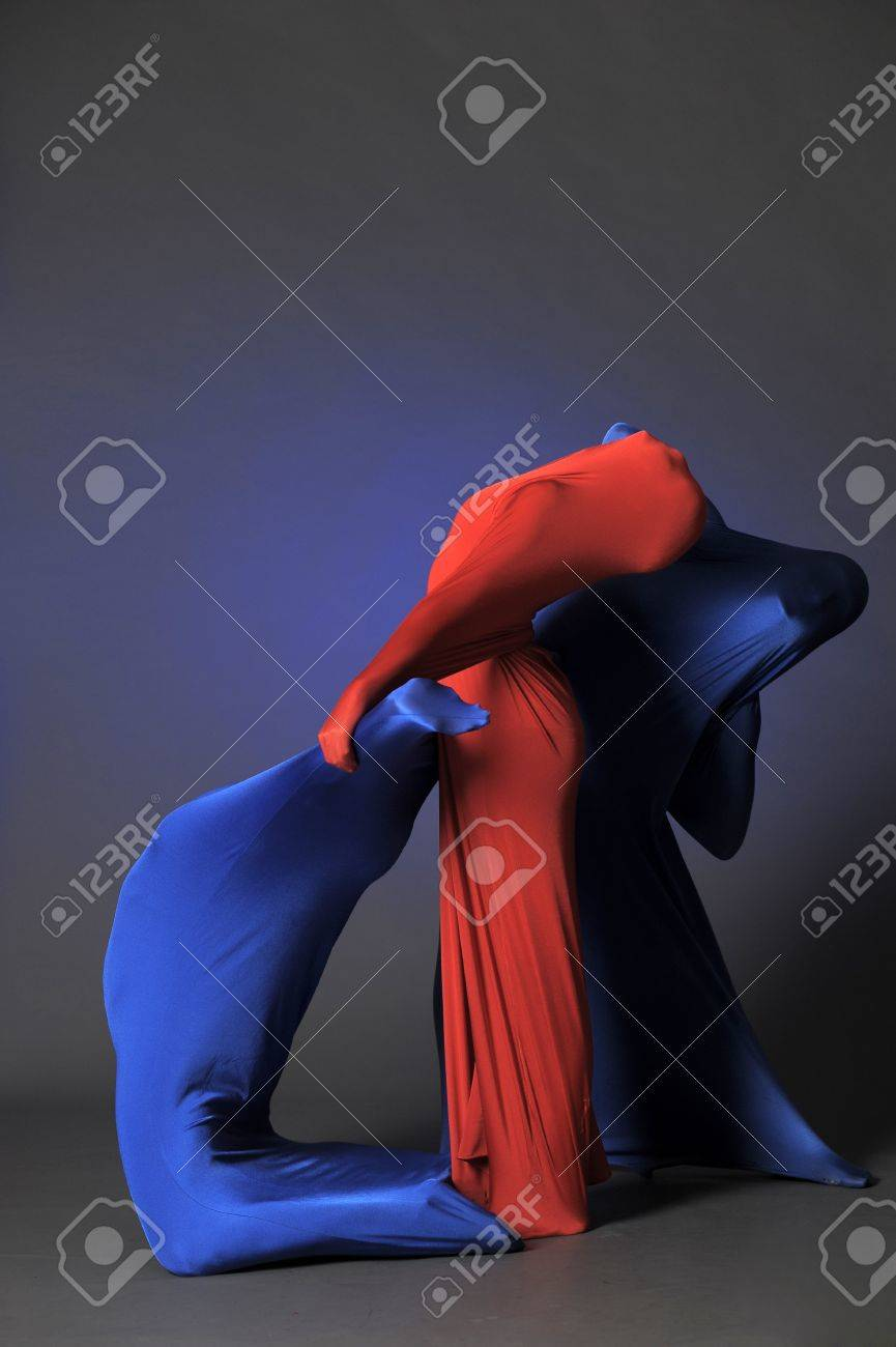 three abstract human figures Stock Photo - 13342815
