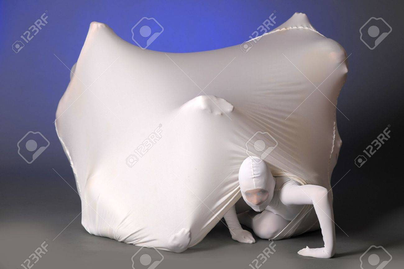 abstract figures dancing in a white Stock Photo - 12378305