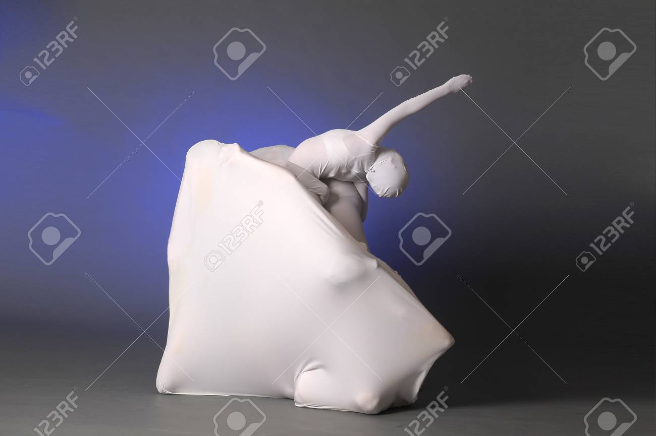 abstract figures dancing in a white Stock Photo - 12374899