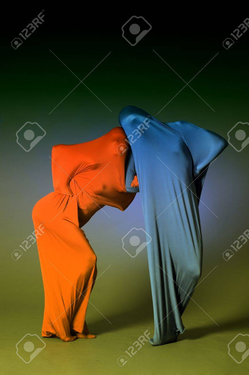 two abstract dancing figures Stock Photo - 12375074