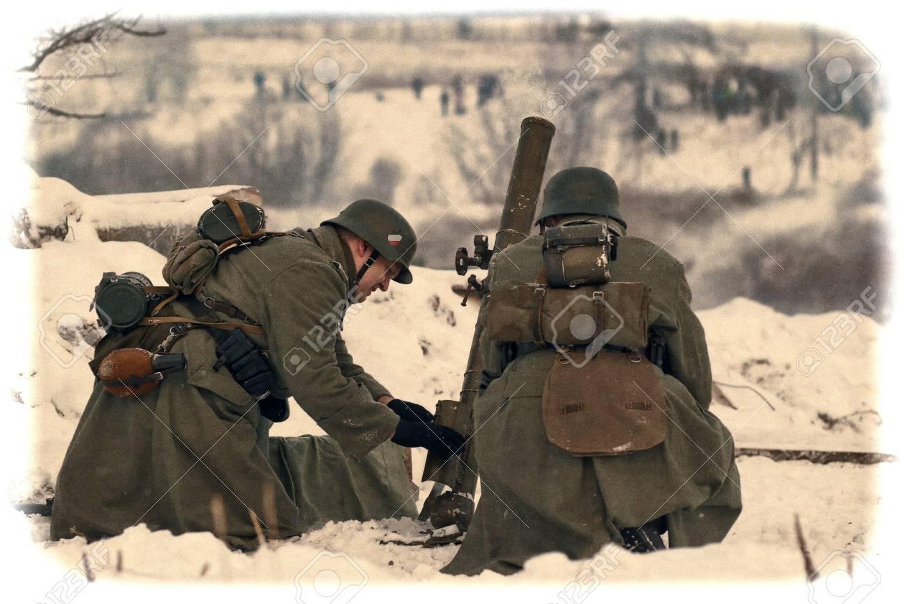 Reconstruction of a major military operation of the Leningrad Front - The January Thunder,  lifting of the blockade of Leningrad. Stock Photo - 12273112