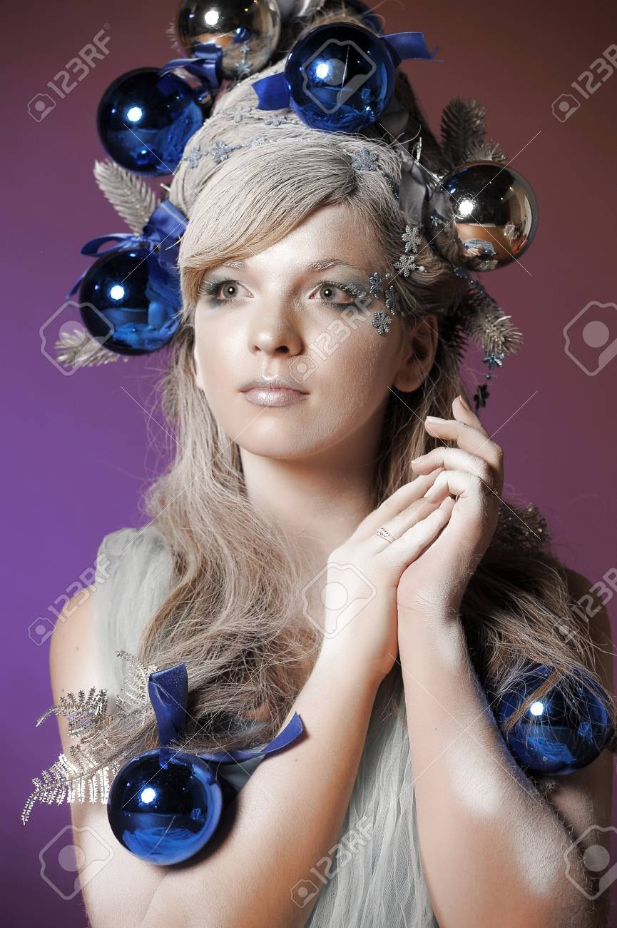 Christmas fantastic portrait of the girl Stock Photo - 13813662