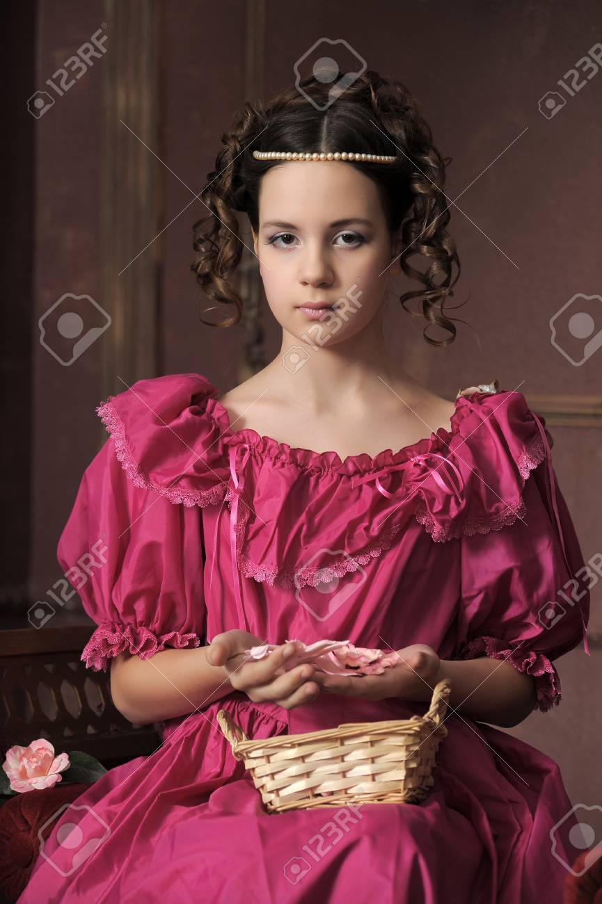 Young victorian lady Stock Photo - 12443074
