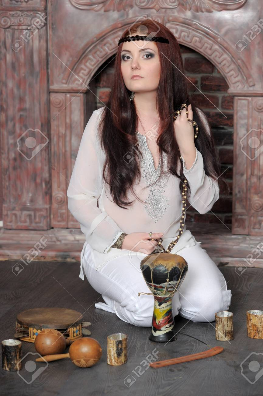 Hippie style portrait of beautiful girl Stock Photo - 13730124
