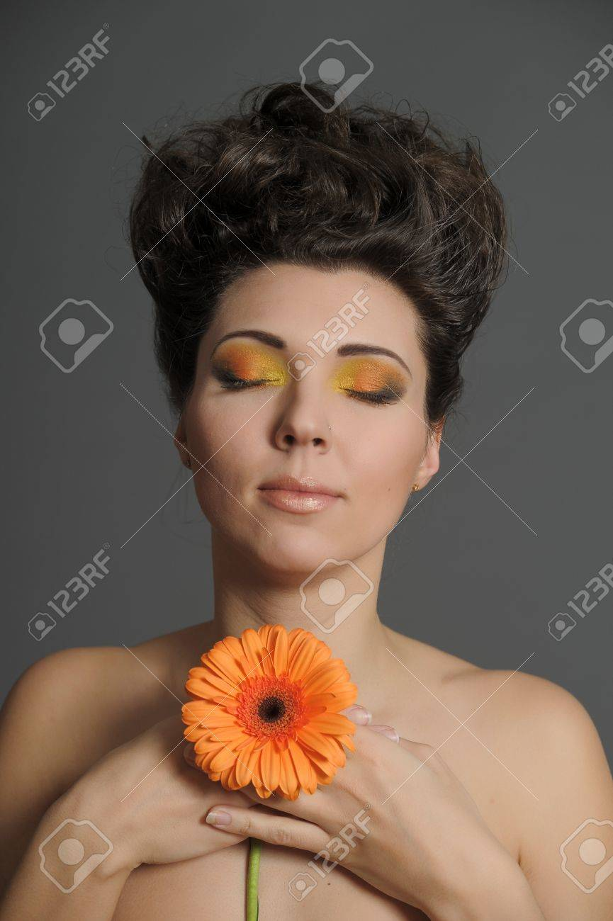 Flower Woman Stock Photo - 13135035
