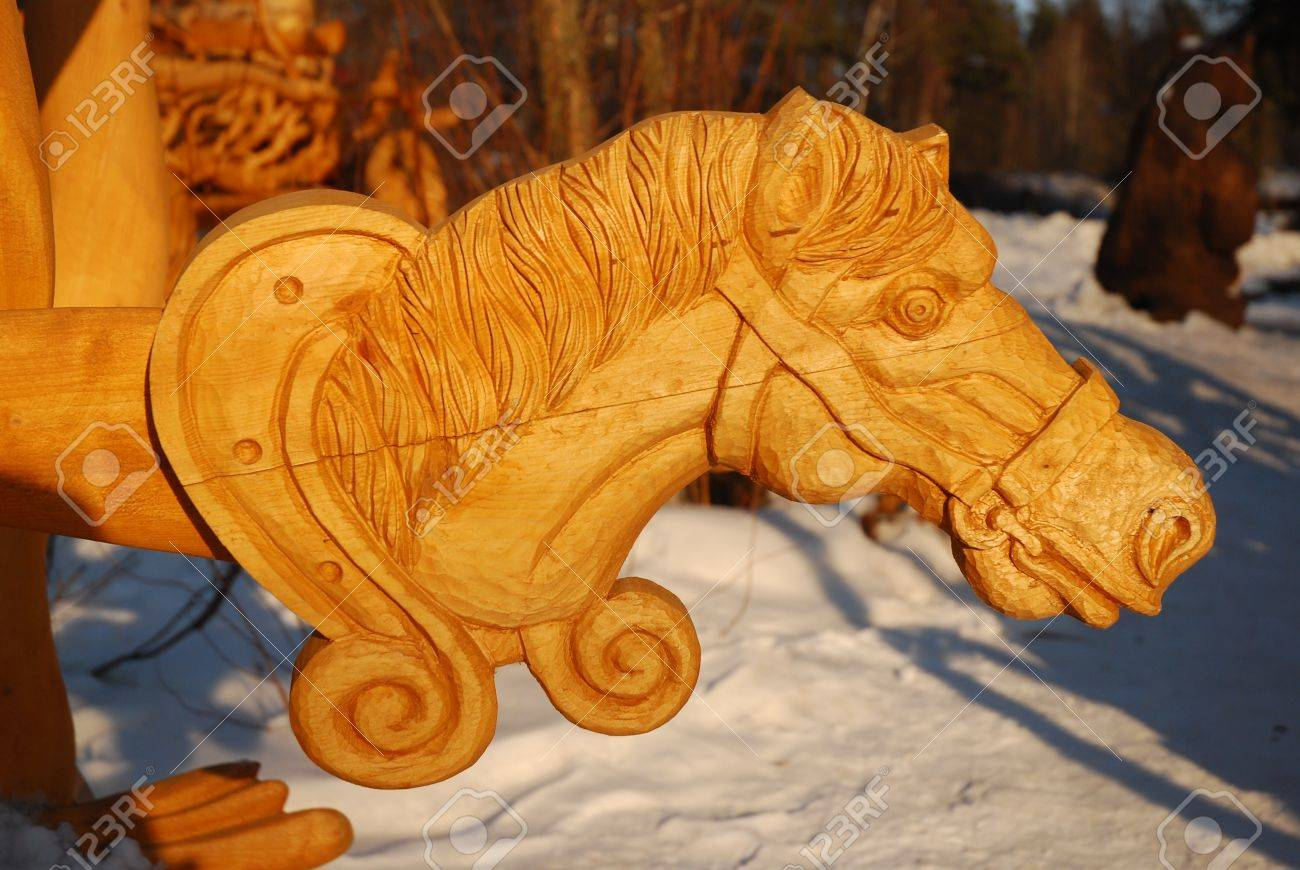 Wooden Horse Head Stock Photo Picture And Royalty Free Image Image 13233062