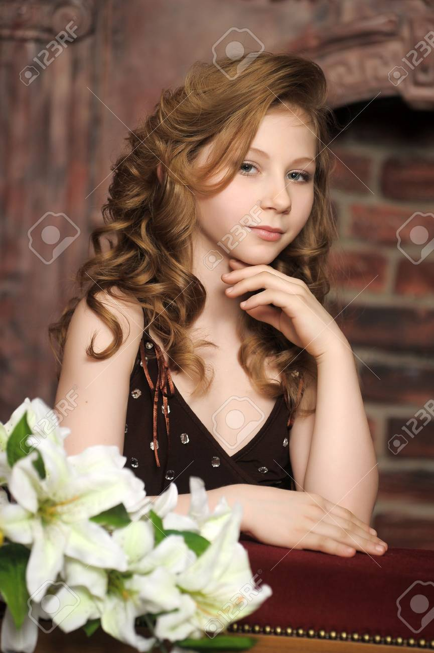 girl with lily Stock Photo - 13562247