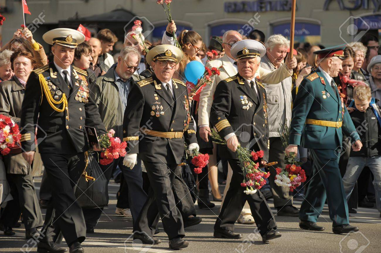 Veterans of the Second World War on Victory parade in St. Petersburg, Russia, on May 9 2012 Stock Photo - 13574344