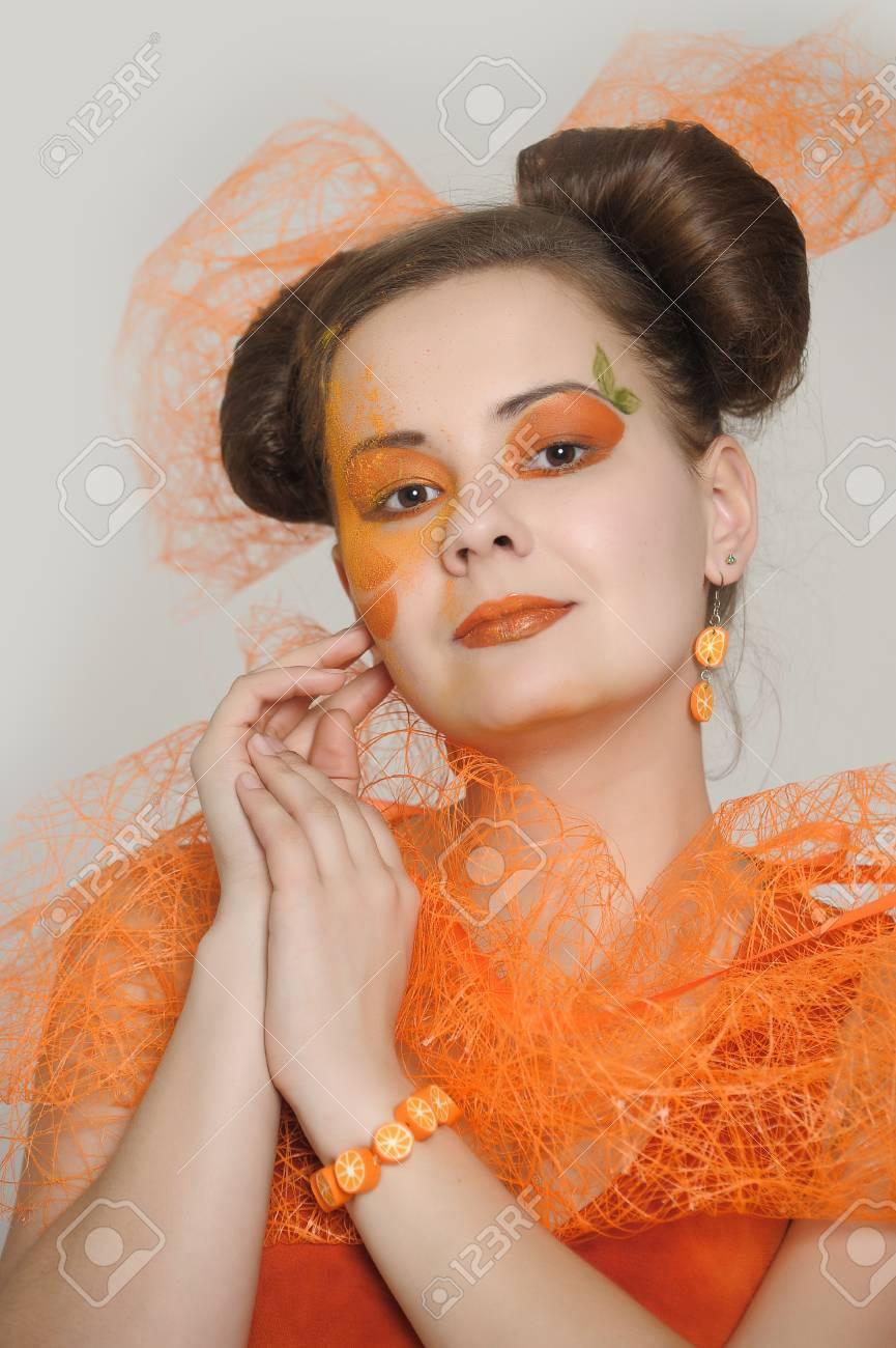 Orange girl Stock Photo - 13682654