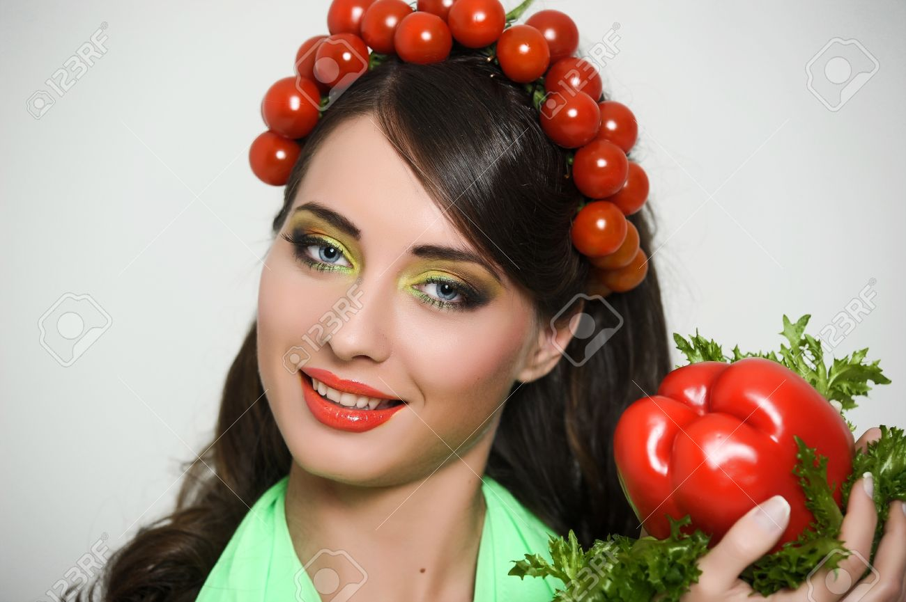vegetable girl Stock Photo - 13817784