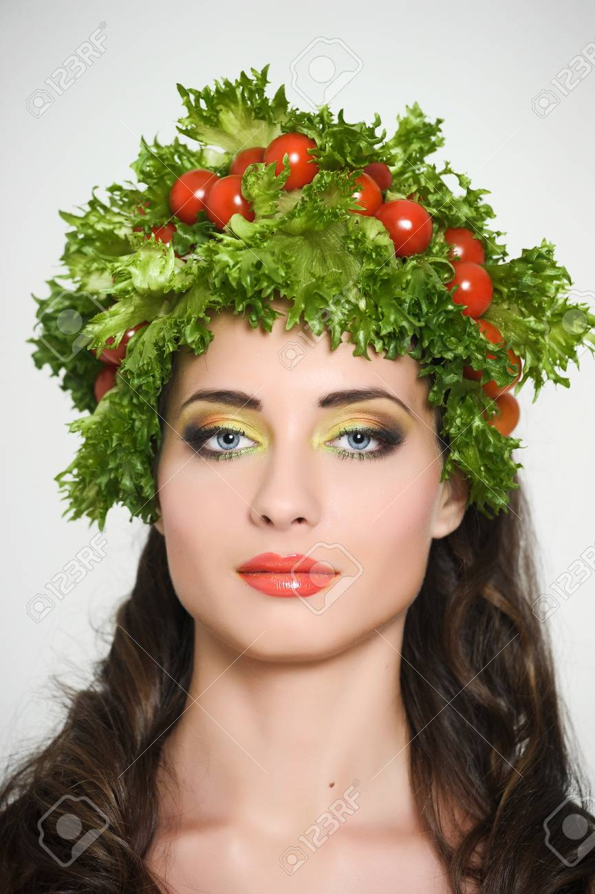 vegetable girl Stock Photo - 13836872