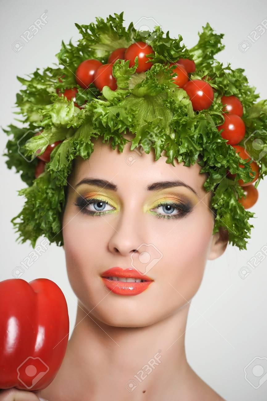 vegetable girl Stock Photo - 13817787