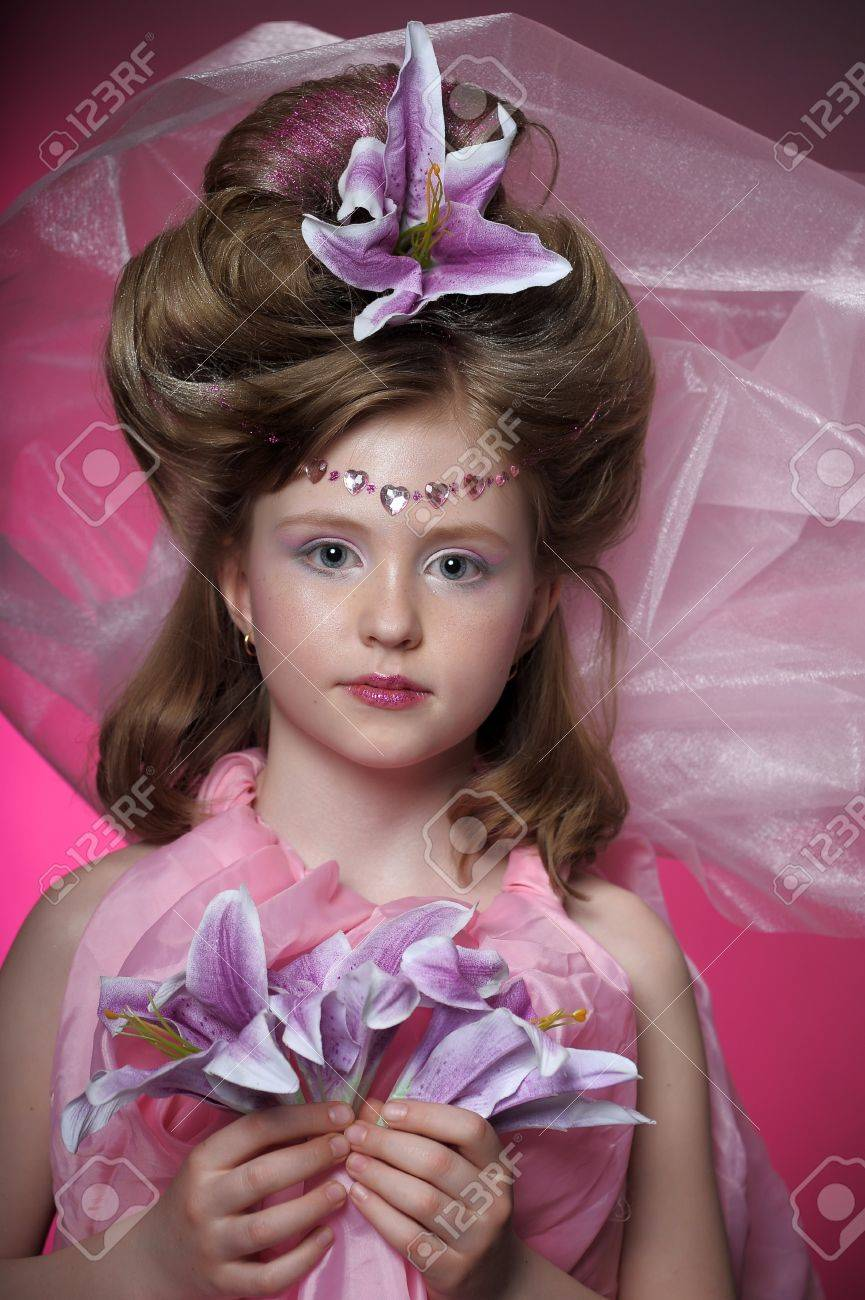 Beautiful little girl in princess dress Stock Photo - 15035241