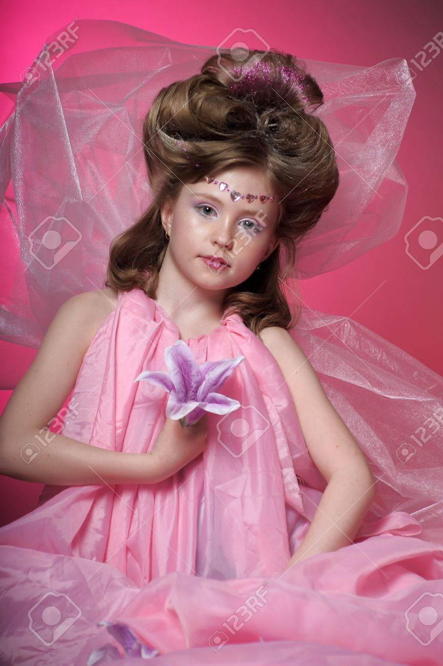 Beautiful little girl in princess dress Stock Photo - 15034981