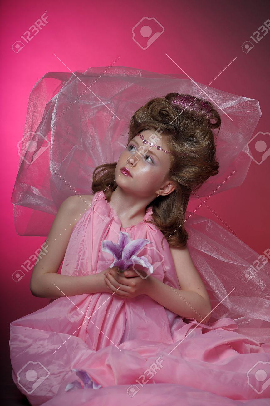 Beautiful little girl in princess dress Stock Photo - 15035025