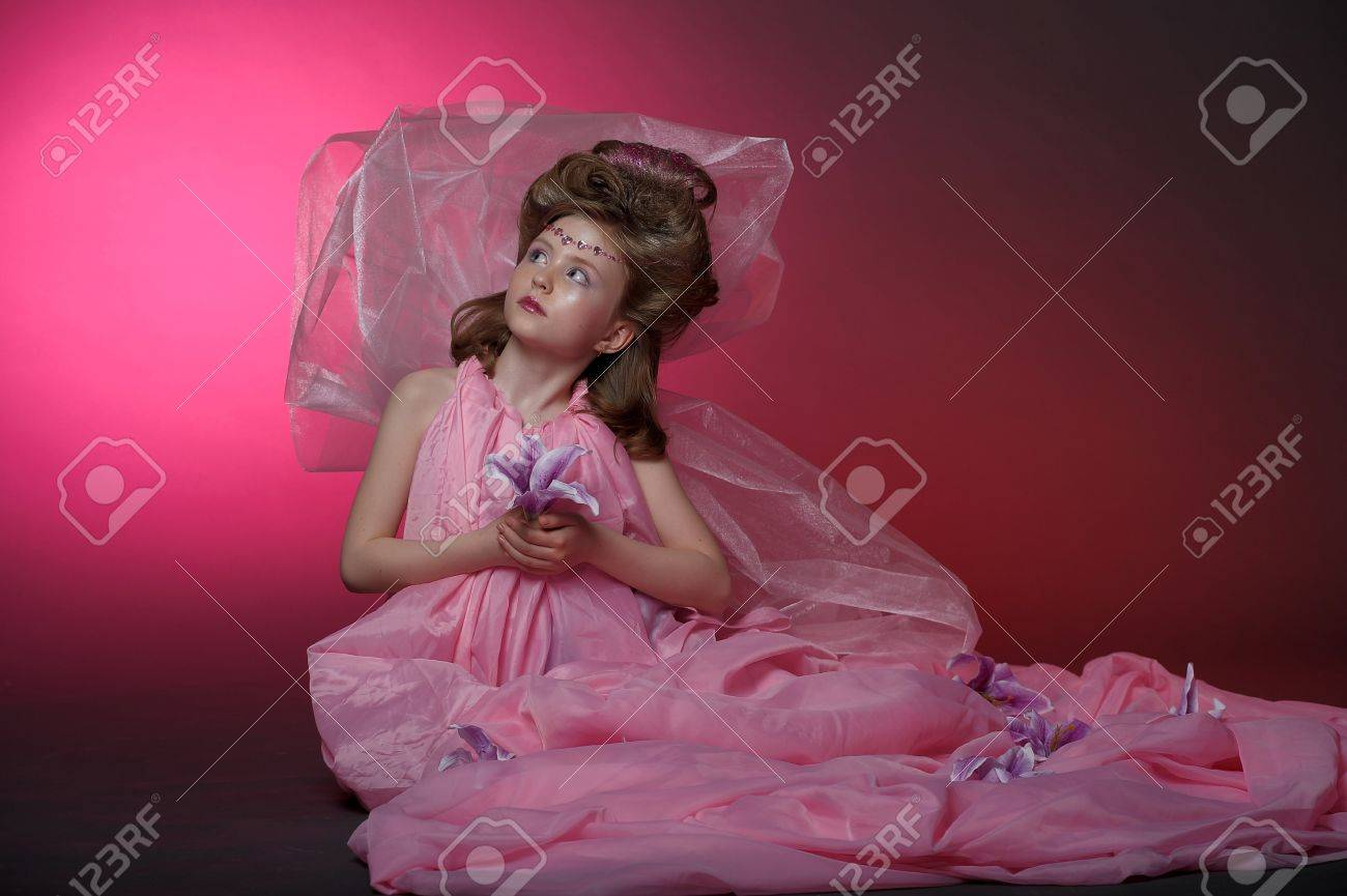 Beautiful little girl in princess dress Stock Photo - 15035022