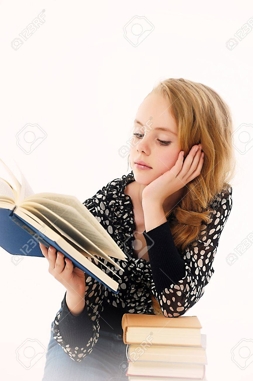 female student with books Stock Photo - 14330654