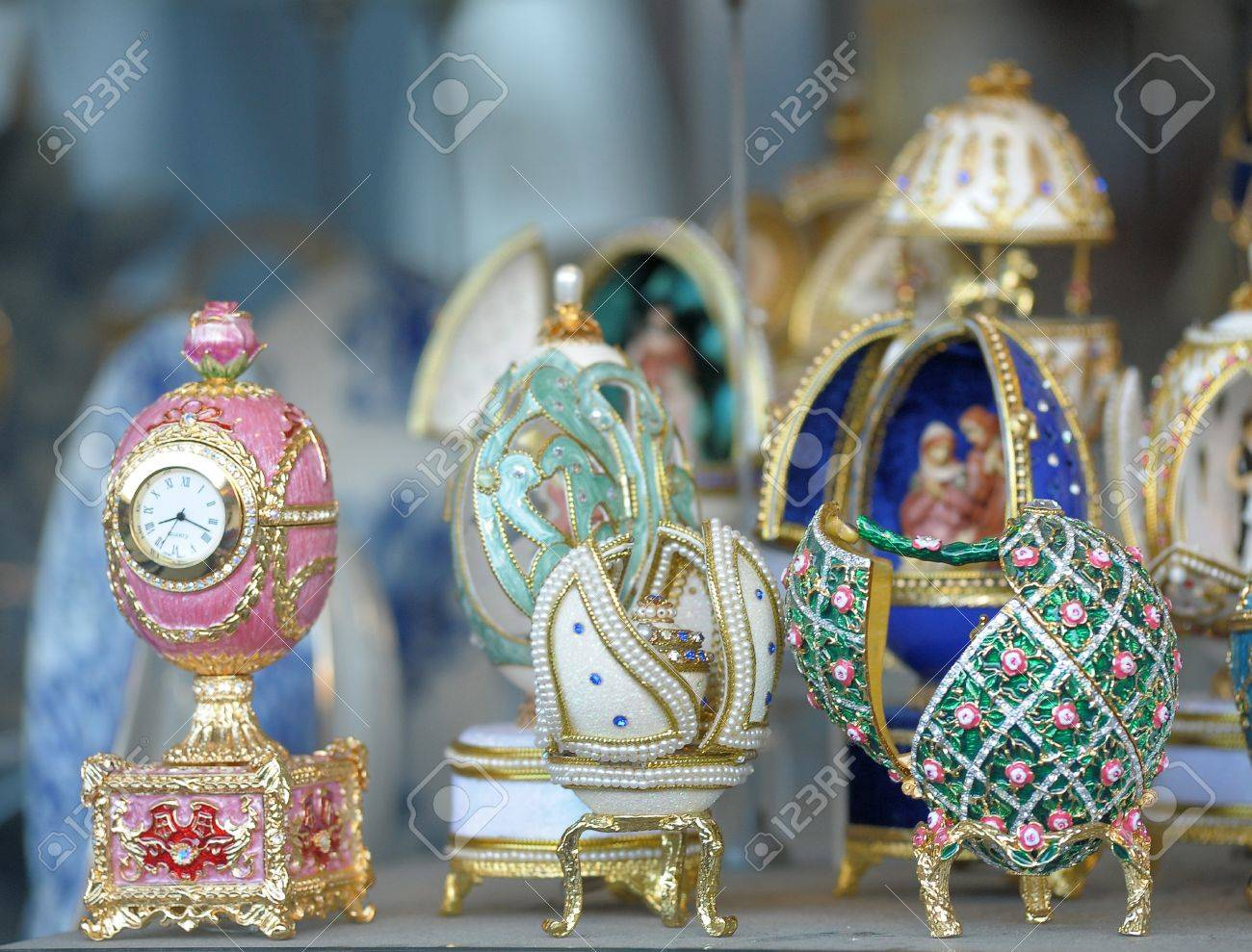 Group Faberge eggs Stock Photo - 14167921