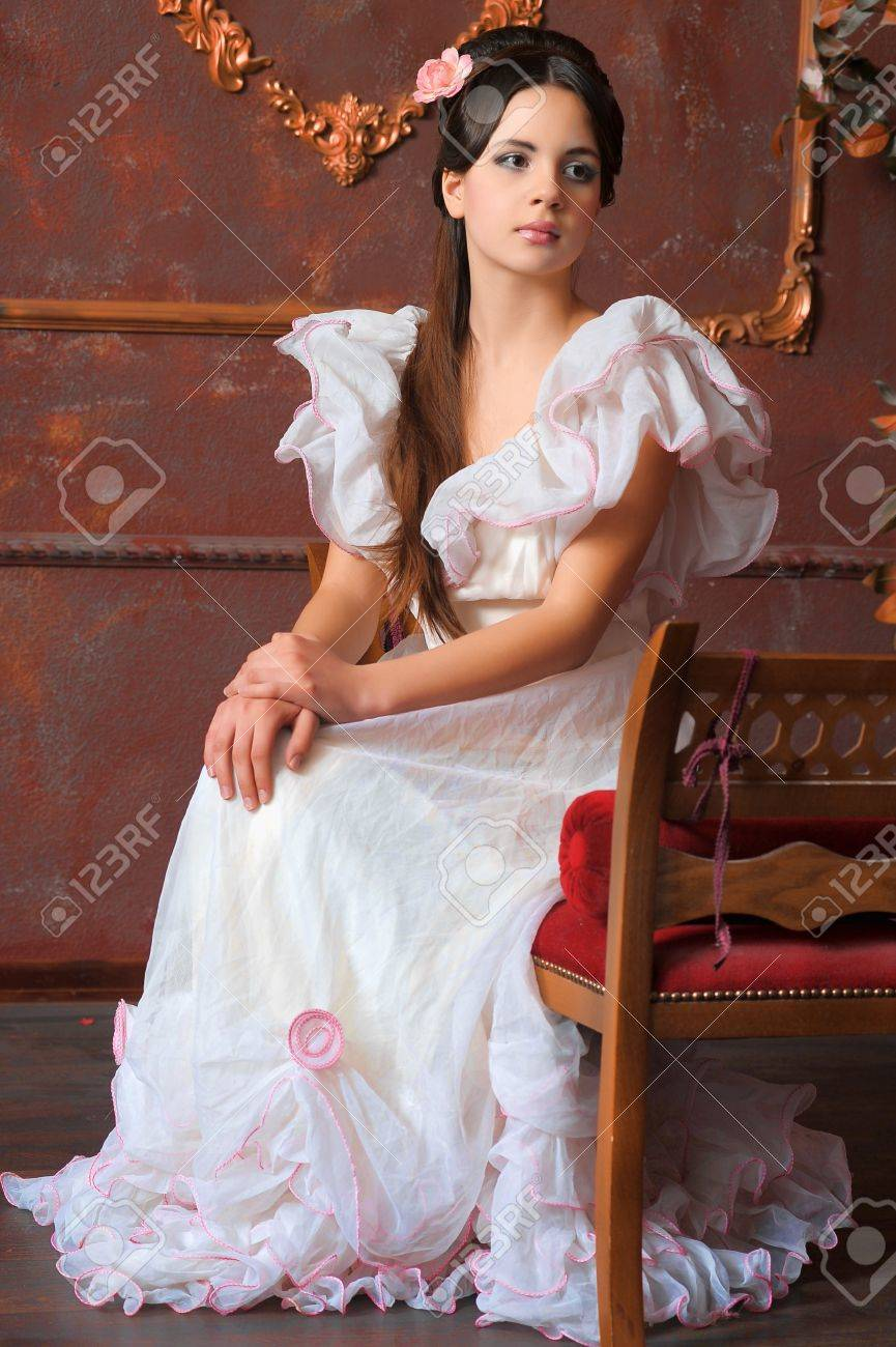 Young victorian lady Stock Photo - 14190848