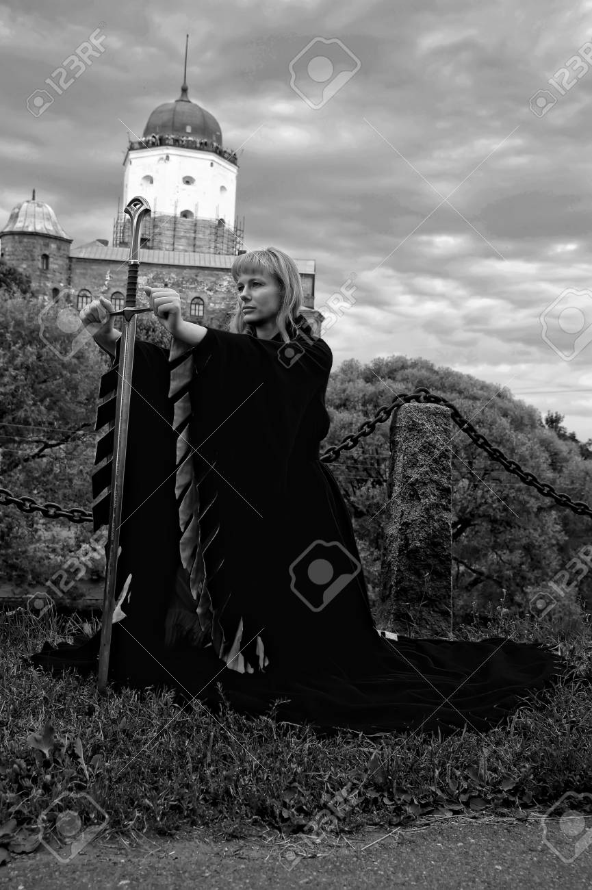 woman in medieval dress Stock Photo - 14191884