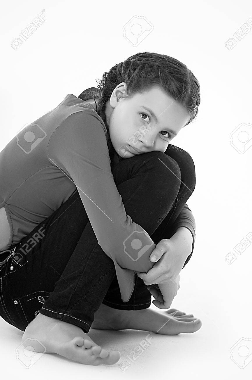the girl teenager in the depression Stock Photo - 14494691