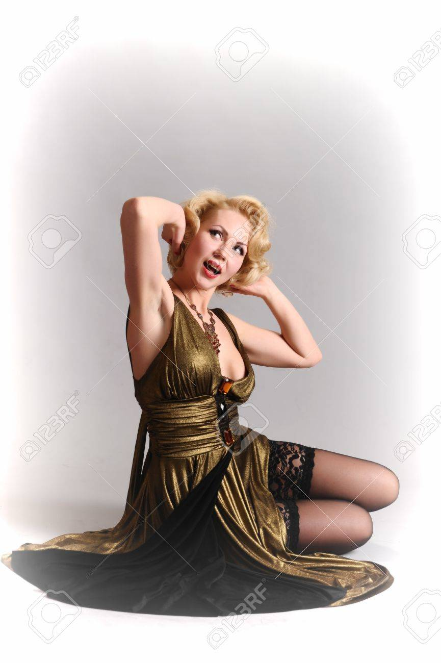 blond in retro style Stock Photo - 14749623