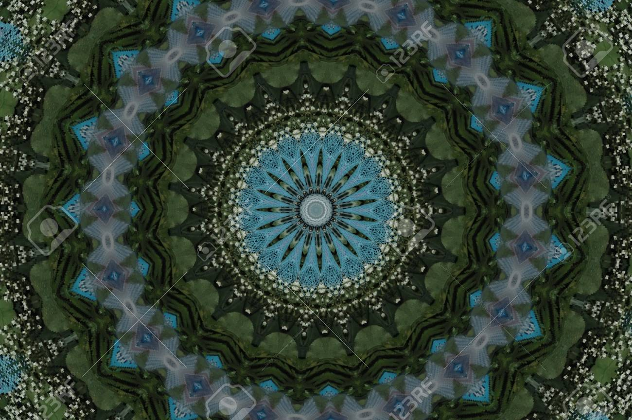 green with blue kaleidoscope Stock Photo - 15036565