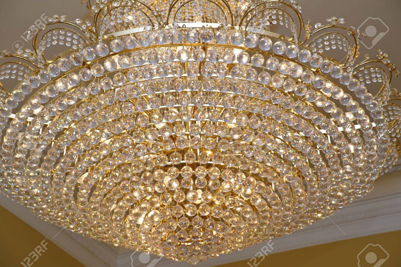 The big crystal chandelier stock photo picture and royalty free stock photo the big crystal chandelier aloadofball Choice Image