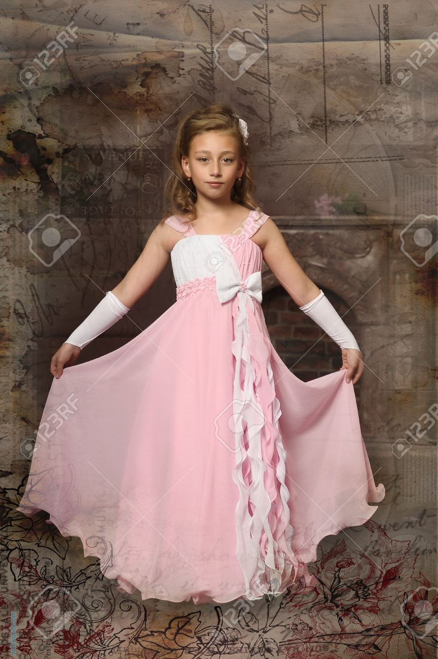 Little Princess In A Pink Dress Stock Photo, Picture And Royalty ...