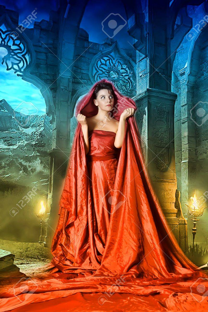 medieval mystical image of women Stock Photo - 15338370