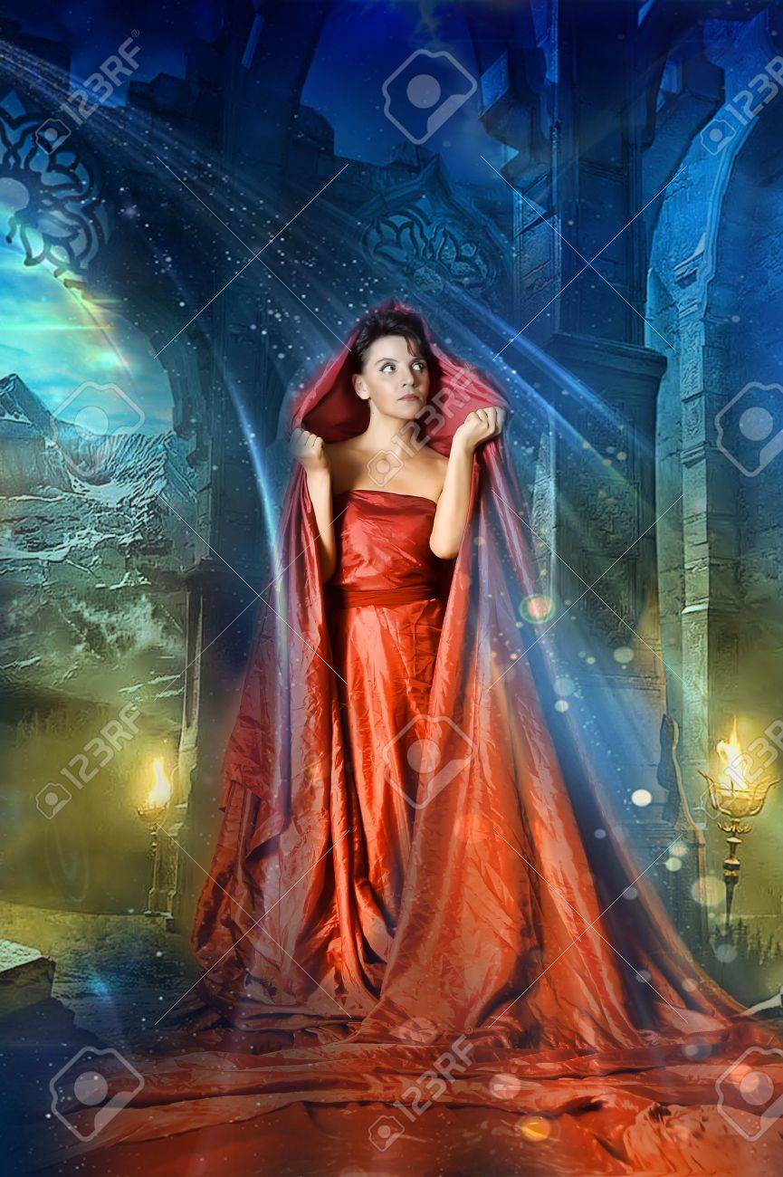 medieval mystical image of women Stock Photo - 15338334