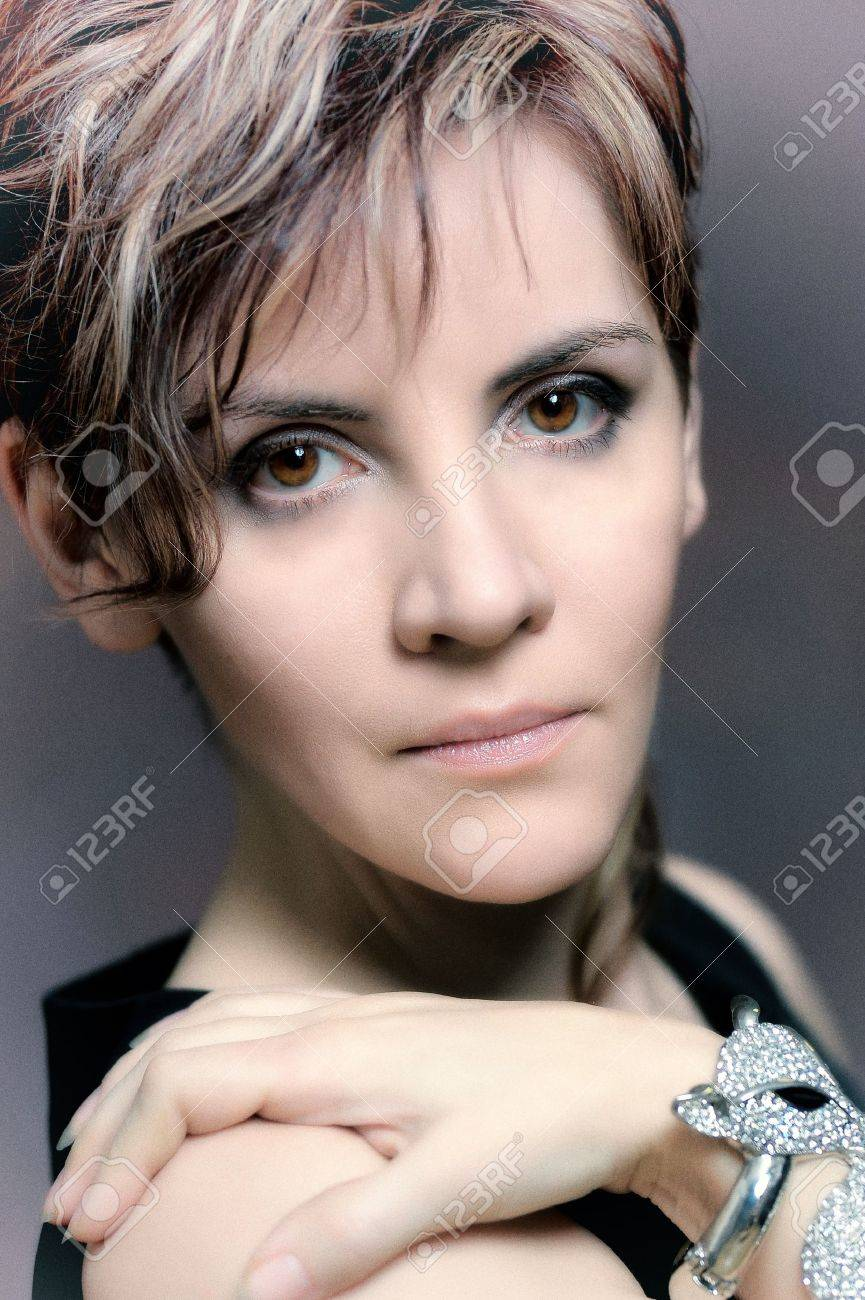 Portrait of a beautiful  woman Stock Photo - 15364284