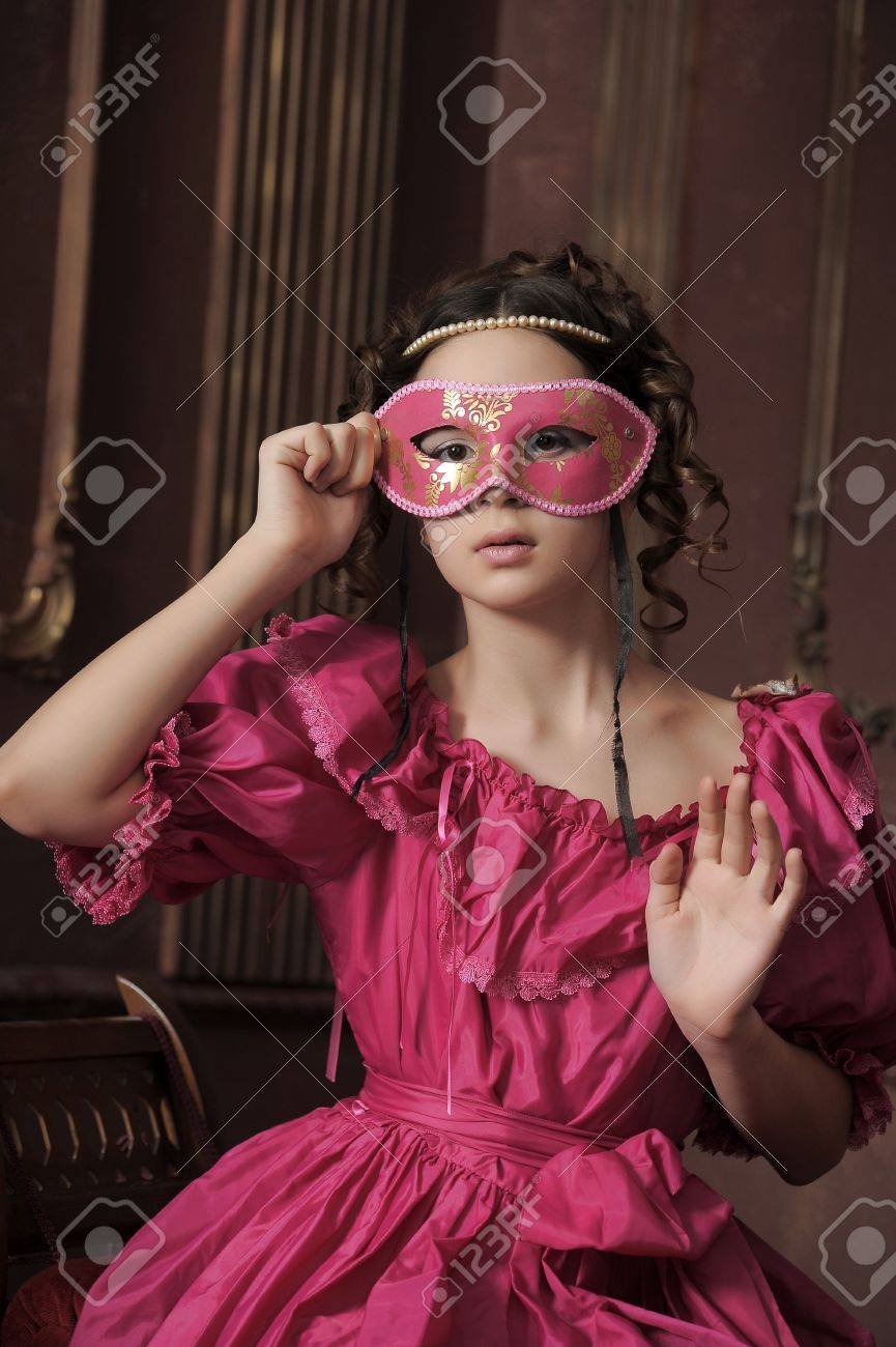 Young victorian lady Stock Photo - 15412369