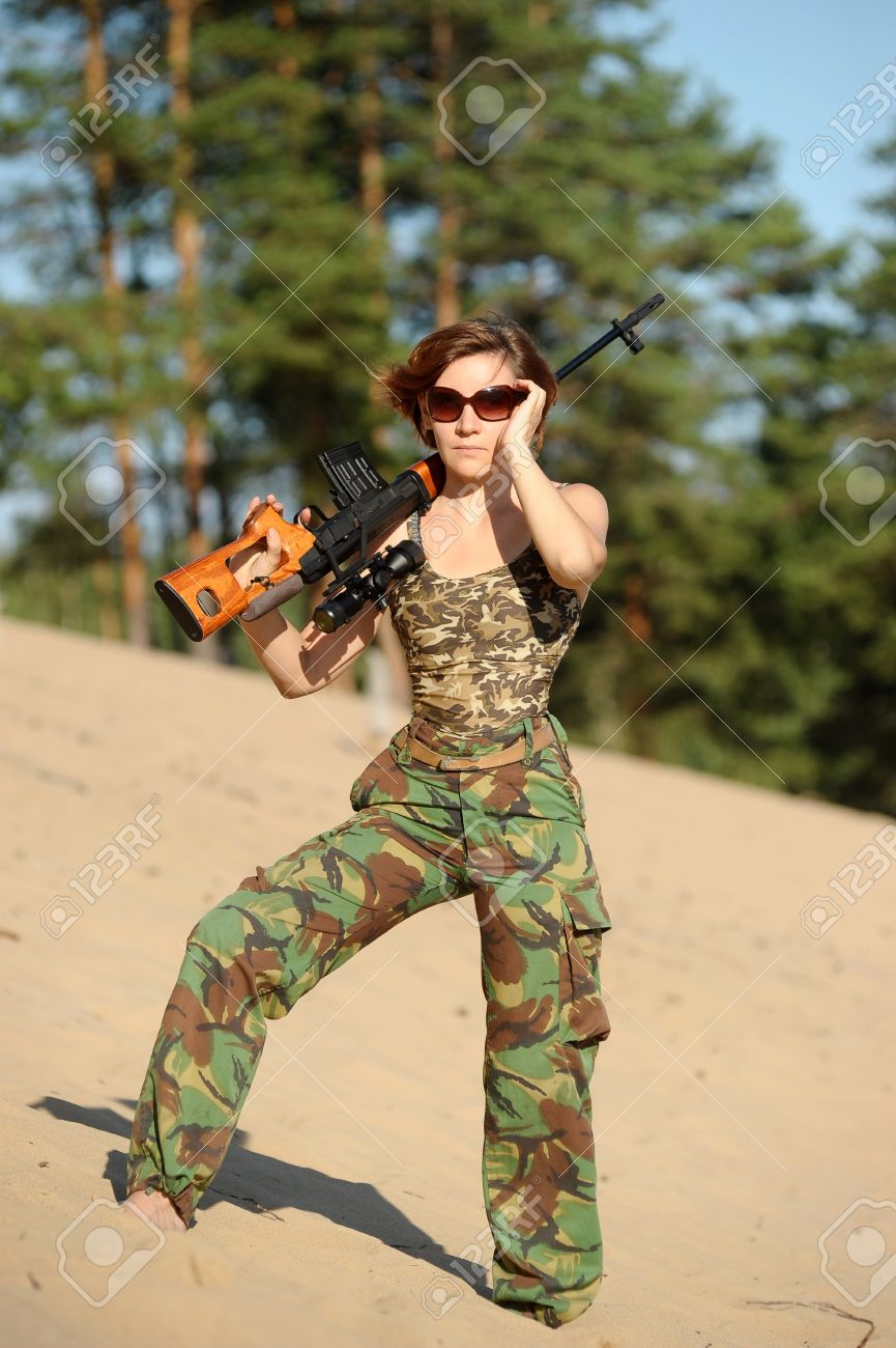 woman with a gun Stock Photo - 15805279