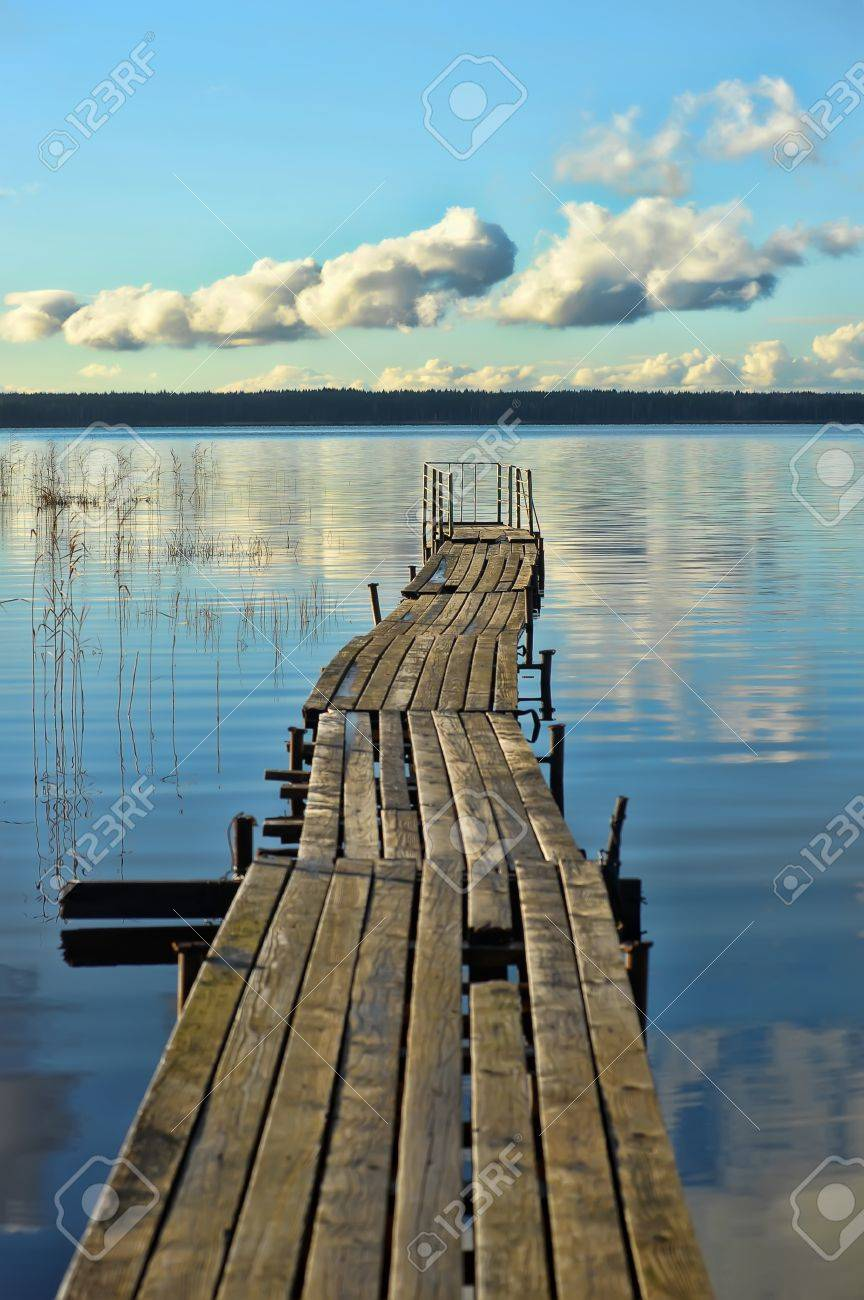 Boat Dock On A Lake Stock Photo Picture And Royalty Free Image Image 16010106