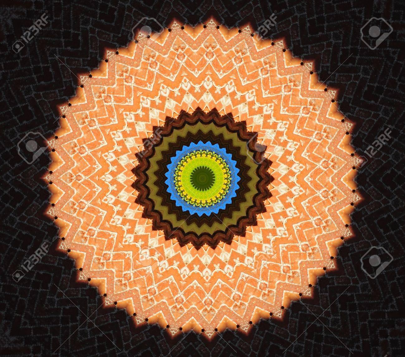 orange circular ornament Stock Photo - 16194253