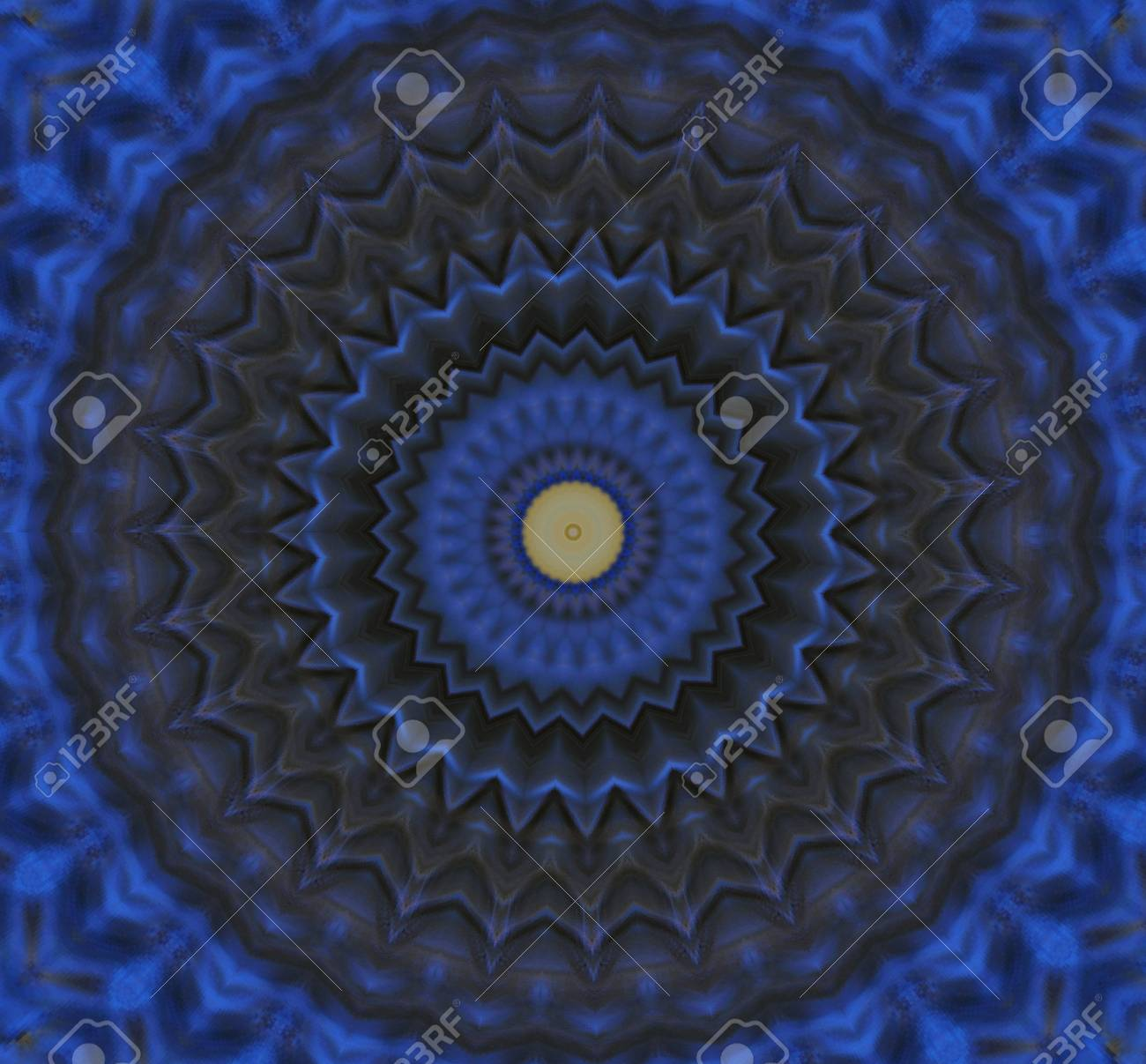 blue and yellow circular ornament Stock Photo - 16194167